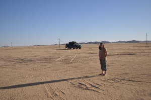 Nicky in the NUBIAN Desert