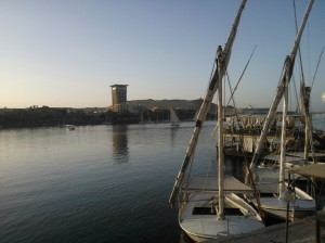 Aswan, view of the Island hotel