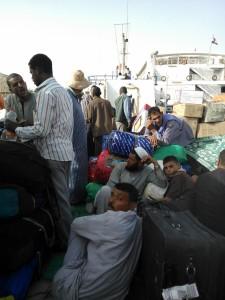 On board Aswan to Wadi ferry